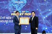 Tổng đầu tư của Samsung tại Việt Nam tăng 26 lần trong 10 năm