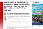 Thương vụ bản quyền phát sóng World Cup 2018: Đằng sau phút 89 gay cấn