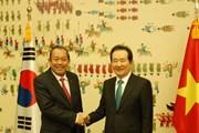 Phó Thủ tướng Trương Hòa Bình hội kiến Chủ tịch Quốc hội Hàn Quốc