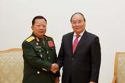 Thủ tướng Nguyễn Xuân Phúc tiếp Bộ trưởng Quốc phòng Lào