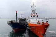 Lai dắt thành công tàu cá bị nạn cùng 11 ngư dân về đất liền an toàn
