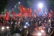 'Rừng' cờ hoa trên đường phố Thủ đô mừng kỳ tích U23 Việt Nam