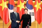 Chủ tịch Quốc hội hội kiến Tổng thống Hàn Quốc Moon Jae-in