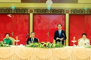 Chủ tịch nước chủ trì tiệc chiêu đãi Tổng thống Hàn Quốc Moon Jae-in