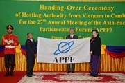 Quốc hội Việt Nam chuyển giao chức Chủ tịch APPF cho Campuchia