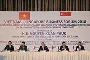 Thủ tướng Nguyễn Xuân Phúc dự Diễn đàn Kinh doanh Việt Nam-Singapore