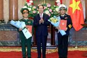 Trao quyết định thăng quân hàm cho các sỹ quan quân đội cấp cao