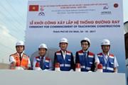 Thành phố Hồ Chí Minh khởi công lắp đường ray tuyến metro số 1
