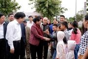 Chủ tịch Quốc hội dự Ngày hội Đại đoàn kết tại xã Kim Liên