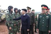 Tổng Bí Thư thăm, kiểm tra công tác huấn luyện, sẵn sàng chiến đấu