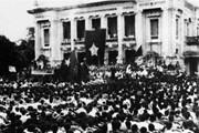 Không gian trưng bày tư liệu từ năm 1946 viết về Cách mạng tháng Tám