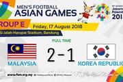 Địa chấn tại ASIAD: Malaysia đánh bại Hàn Quốc của Son Heung-min