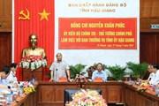 Thủ tướng Nguyễn Xuân Phúc làm việc với tỉnh Hậu Giang