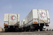 Hàng cứu trợ cho khu vực Đông Ghouta bị chuyển đến kho của phiến quân