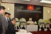 Lễ viếng nguyên Thủ tướng Phan Văn Khải tại các nước