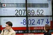 """Căng thẳng thương mại Mỹ-Trung """"phủ bóng"""" chứng khoán châu Á"""