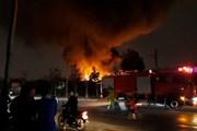 [Video] Hiện trường vụ cháy tại xưởng phế liệu ở xã Tân Triều