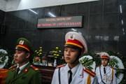 Xúc động phút tiễn đưa chiến sỹ Phòng cháy chữa cháy về Đất Mẹ