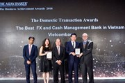 Vietcombank nhận được 2 giải thưởng uy tín từ The Asian Banker