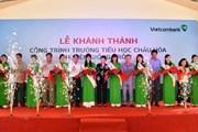 Khánh thành trường tiểu học Châu Hòa, Bến Tre do Vietcombank tài trợ