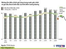 [Infographics] Nhìn lại những lần điều chỉnh giá xăng dầu gần đây