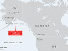 Mỹ dỡ bỏ cảnh báo sóng thần sau động đất mạnh tại Alaska