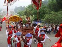 [Photo] Lễ rước kiệu của các xã vùng ven khu di tích Đền Hùng
