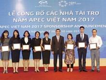 Công bố danh sách hơn 30 nhà tài trợ cho Năm APEC 2017