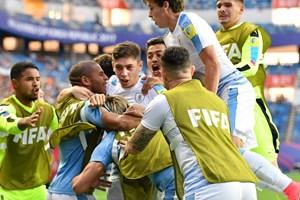 U20 Uruguay vào bán kết sau loạt sút luân lưu theo kiểu mới