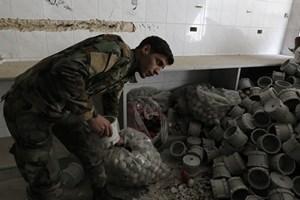 Quân đội Syria phát hiện cơ sở chế tạo chất độc hóa học của phiến quân