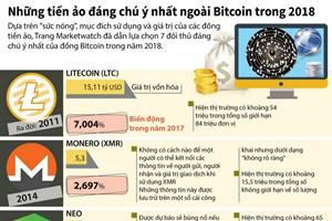 [Infographics] Những đồng tiền ảo đáng chú ý nhất ngoài Bitcoin