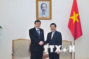 APPF-26: Phó Thủ tướng Phạm Bình Minh tiếp đoàn nghị sỹ Nhật Bản
