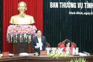 Ban Thường vụ Tỉnh ủy Ninh Bình kiểm điểm tự phê bình và phê bình