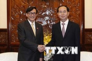 Chủ tịch nước tiếp Đại sứ Thái Lan chào kết thúc nhiệm kỳ