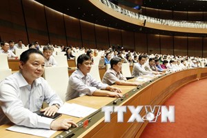 Quốc hội biểu quyết thông qua hai dự án Luật trong ngày 14/6