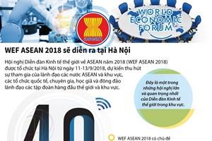[Infographics] WEF ASEAN 2018 sẽ diễn ra tại Hà Nội vào tháng Chín