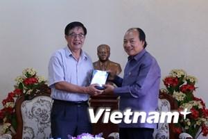 """Bàn giao cho Lào bộ phim tài liệu """"Chủ tịch Suphanouvong với Việt Nam"""""""