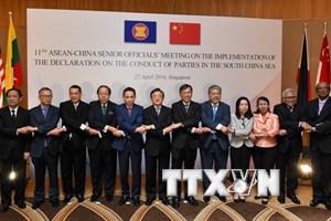 Dự thảo khung COC sẽ được thông qua tại cuộc họp ASEAN-Trung Quốc