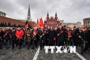 [Photo] Nhiều hoạt động kỷ niệm Cách mạng Tháng Mười tại Nga