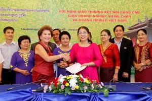 Gần 100 doanh nghiệp dự Hội nghị kết nối cung cầu Việt Nam-Lào