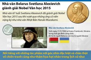 [Infographics] Nhà văn Belarus giành giải Nobel Văn học 2015