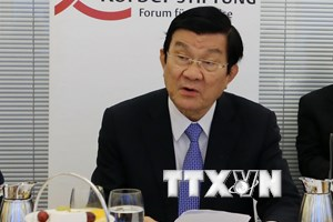 Chủ tịch nước Trương Tấn Sang gặp doanh nghiệp hàng đầu của Đức