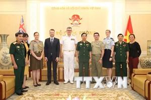 Quân đội Việt Nam muốn thúc đẩy hợp tác quốc phòng với Australia