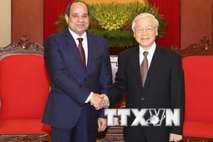 Tổng Bí thư Nguyễn Phú Trọng tiếp Tổng thống Cộng hòa Arab Ai Cập