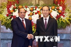 Thông cáo báo chí chung về chuyến thăm Việt Nam của Tổng thống Ai Cập