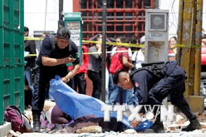 Chủ tịch nước gửi điện thăm hỏi vụ động đất mạnh ở Mexico