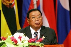 Điện thăm hỏi của Chủ tịch nước Lào về thiệt hại do cơn bão số 12