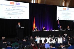 Thủ tướng Nguyễn Xuân Phúc dự Diễn đàn doanh nghiệp Việt Nam-Australia