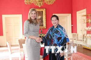 Chủ tịch Quốc hội chào xã giao Hoàng hậu Vương quốc Hà Lan