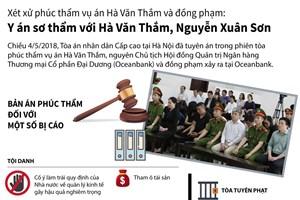 [Infographics] Y án sơ thẩm với Hà Văn Thắm, Nguyễn Xuân Sơn